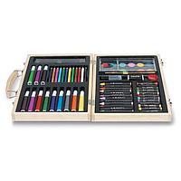 Набор для рисования в деревянном портфеле