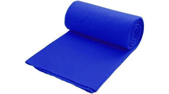 Плед флисовый 180 г / м², со съемной ручкой, размер 150х120см, цвет синий