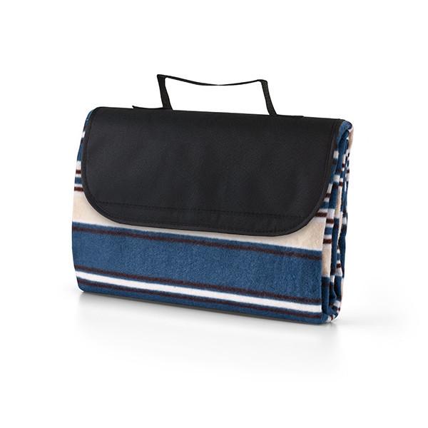 Плед из флиса (180 г/м²) с защитной подкладкой. 1450 x 1200 мм. Цвет синий