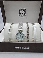 Подарочный набор для женщин ANNE KLEIN, часы с браслетами в подарочный упаковке, 0001-2-60