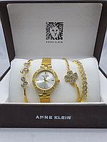 Подарочный набор для женщин ANNE KLEIN, часы с браслетами в подарочный упаковке, 0002-2-60