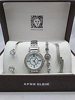 Подарочный набор для женщин ANNE KLEIN, часы с браслетами в подарочный упаковке, 0004-2-60