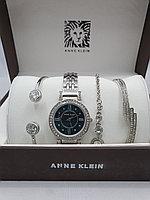 Подарочный набор для женщин ANNE KLEIN, часы с браслетами в подарочный упаковке, 0005-2-60