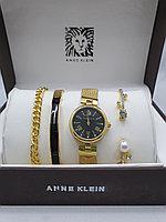 Подарочный набор для женщин ANNE KLEIN, часы с браслетами в подарочный упаковке, 0006-2-60