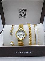 Подарочный набор для женщин ANNE KLEIN, часы с браслетами в подарочный упаковке, 0007-2-60