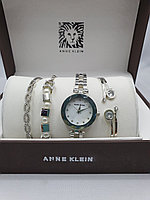Подарочный набор для женщин ANNE KLEIN, часы с браслетами в подарочный упаковке, 0008-2-60