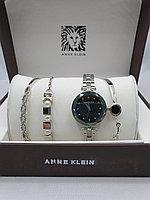 Подарочный набор для женщин ANNE KLEIN, часы с браслетами в подарочный упаковке, 0009-2-60