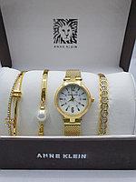 Подарочный набор для женщин ANNE KLEIN, часы с браслетами в подарочный упаковке, 0012-2-60