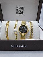 Подарочный набор для женщин ANNE KLEIN, часы с браслетами в подарочный упаковке, 0013-2-60
