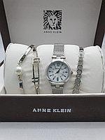 Подарочный набор для женщин ANNE KLEIN, часы с браслетами в подарочный упаковке,  0014-2-60