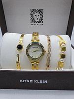 Подарочный набор для женщин ANNE KLEIN, часы с браслетами в подарочный упаковке,  0015-2-60