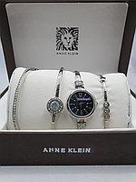 Подарочный набор для женщин ANNE KLEIN, часы с браслетами в подарочный упаковке, 0016-2-60
