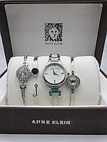 Подарочный набор для женщин ANNE KLEIN, часы с браслетами в подарочный упаковке, 0017-2-60