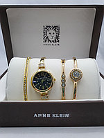 Подарочный набор для женщин ANNE KLEIN, часы с браслетами в подарочный упаковке, 0018-2-60