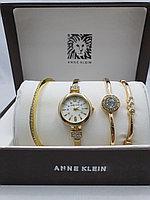 Подарочный набор для женщин ANNE KLEIN, часы с браслетами в подарочный упаковке, 0020-2-60