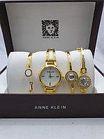 Подарочный набор для женщин ANNE KLEIN, часы с браслетами в подарочный упаковке, 0025-2-60