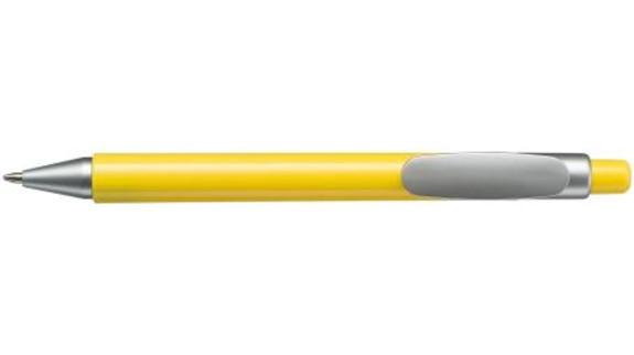 """Ручка """"Athens"""". Шариковая. Синие чернила. Цвет: ЖЕЛТЫЙ"""