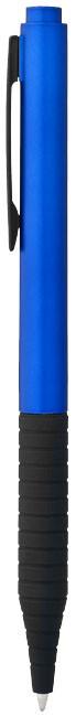 Шариковая ручка Knox, с кнопочным механизмом и резиновым держателем, пластик. Цвет синий/черный