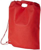 Сумка-рюкзак Freedom Красный. Может использоваться как сумка или как рюкзак. 80 г/м2 нетканый полипропилен.