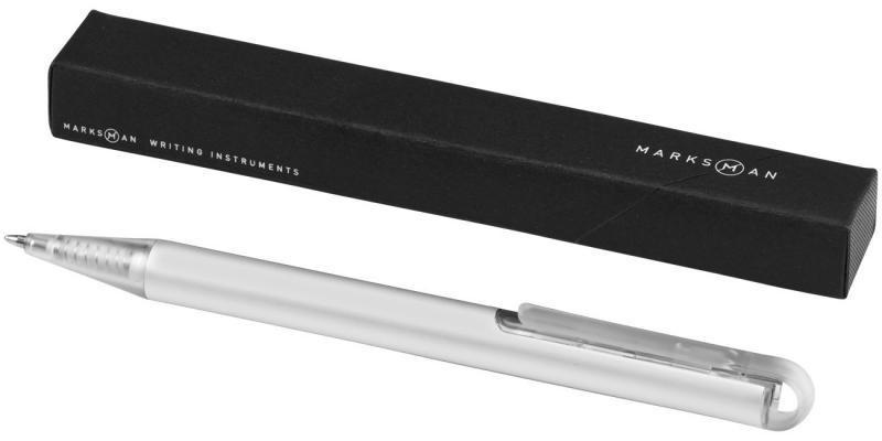 Ручка шариковая Hybrid. Стильная комбинация металла и пластика - лучшее из двух миров в одной шариковой ручке (2) (3) Цвет серый