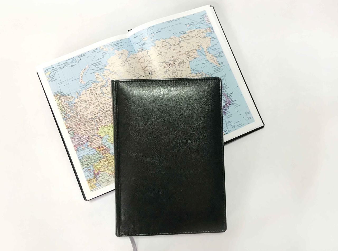 Ежедневник Nebraska недатированный, формат A5 Цвет: черный