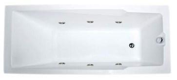 Акриловая ванна Рагуза 180х80 см с гидромассажем. Джакузи.(Общий массаж)