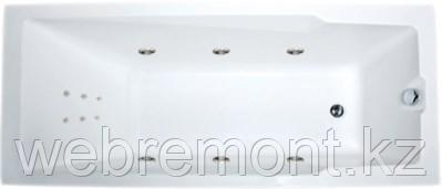 Акриловая ванна Рагуза 180х80 см с гидромассажем. Джакузи.(Общий массаж + спина)