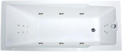Акриловая ванна Рагуза 180х80 см с гидромассажем. Джакузи.(Общий массаж + спина + ноги)