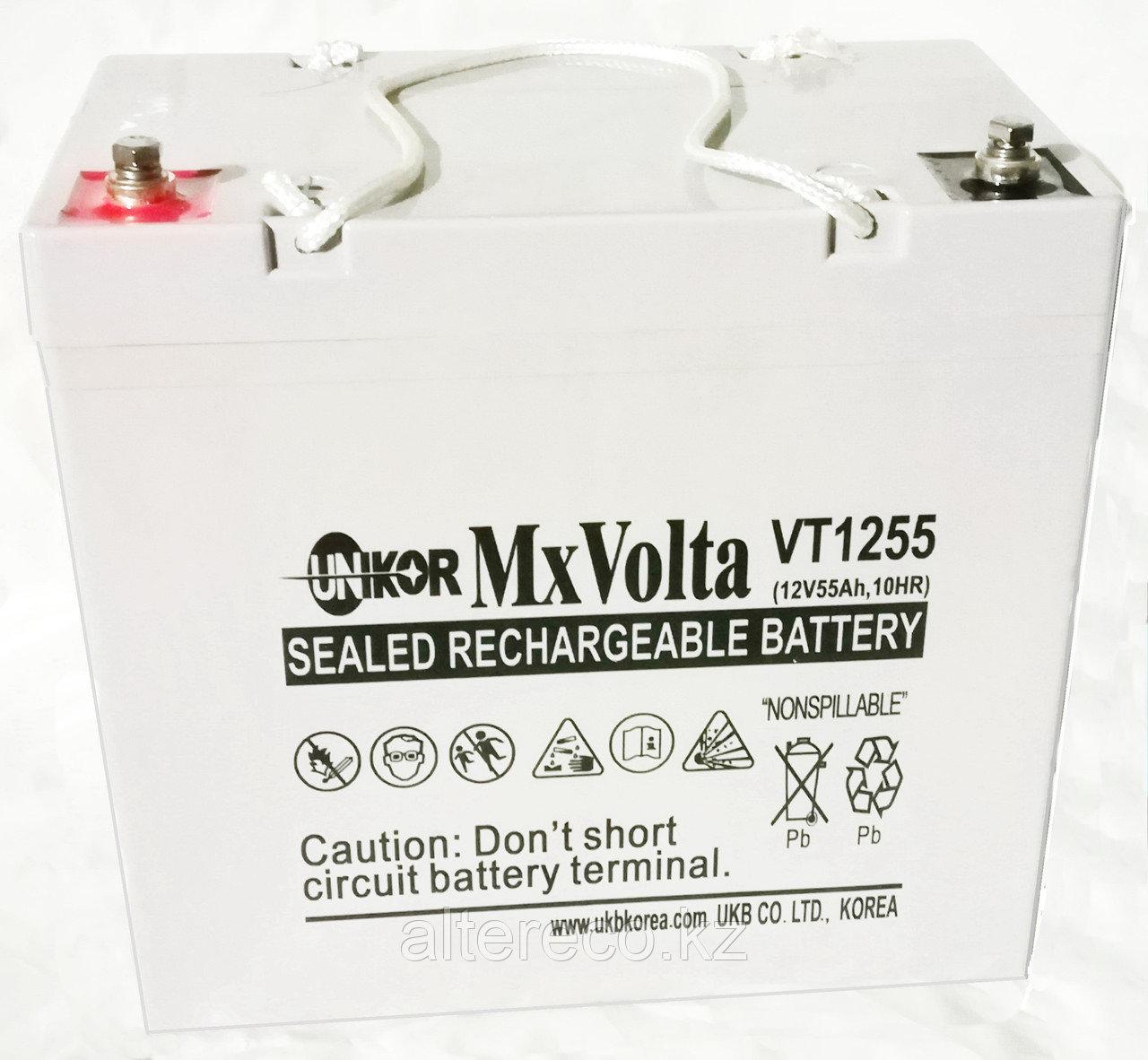 Аккумулятор Unikor MxVolta VT 1255 (12В, 55Ач)