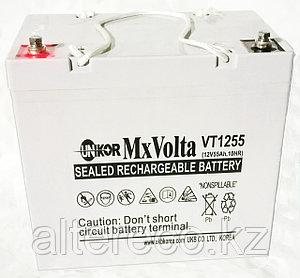 Аккумулятор Unikor MxVolta VT 1255 (12В, 55Ач), фото 2