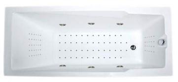 Акриловая ванна Рагуза 180*80 СМ с гидромассажем. Джакузи.(Общий массаж + Nano)