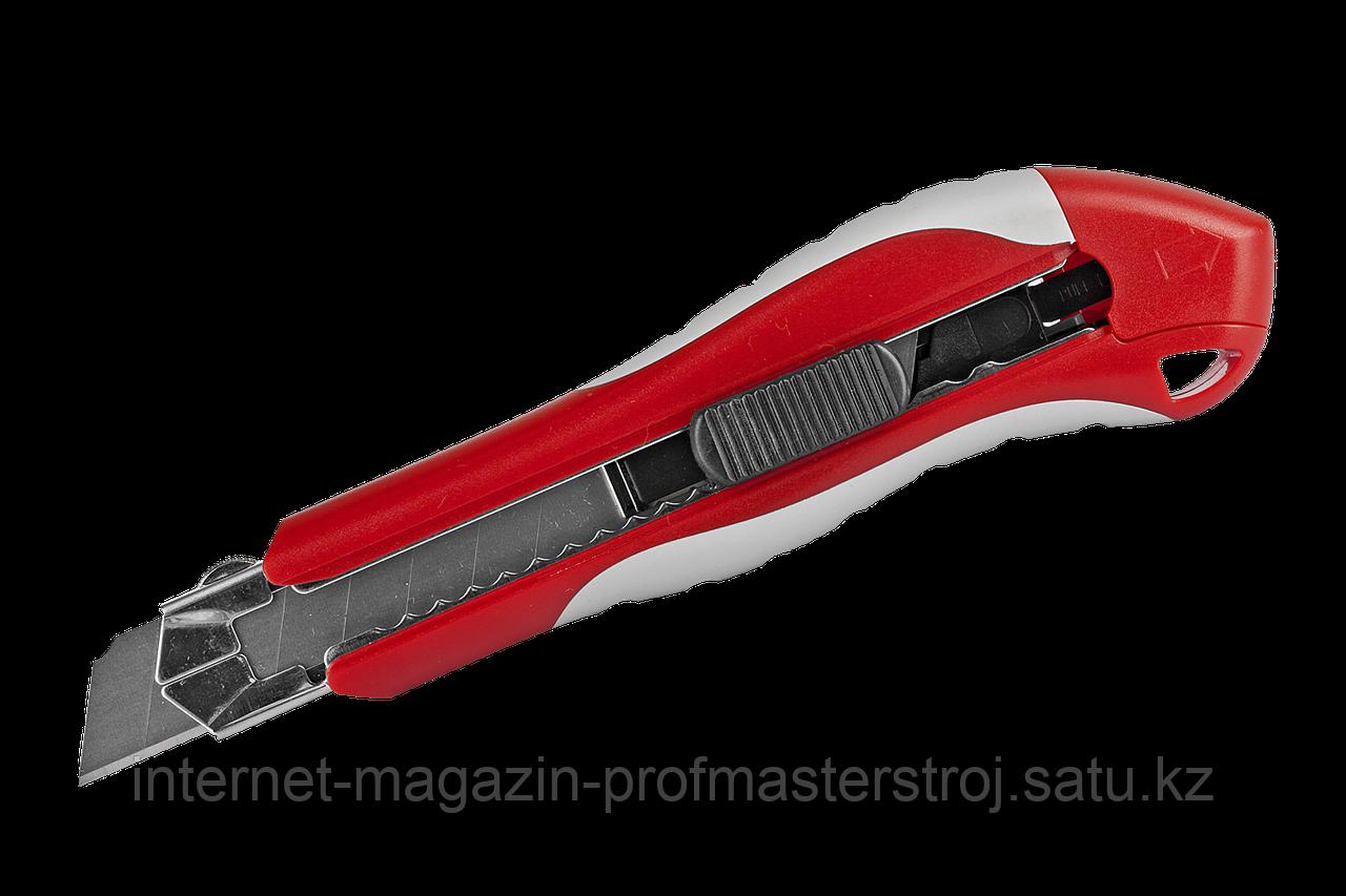 Нож с сегментированными лезвиями, лезвие 18.7 мм, серия «ЭКСПЕРТ», ЗУБР