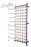 Дополнительная стойка к пристенному ДСК с сеткой для лазания фиолетовый