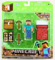 Minecraft 16450 Набор для выживания с аксесс. 8см
