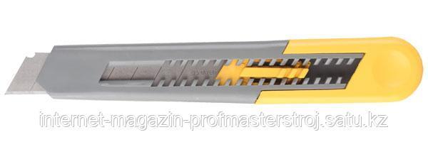 Нож с сегментированным лезвием, 18 мм, пластмассовый корпус, серия STANDARD, STAYER