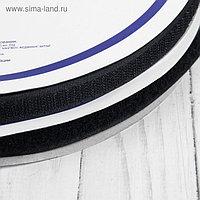Липучка, 16 мм × 25 ± 1 м, цвет чёрный