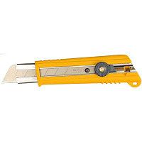 Нож с выдвижным лезвием, с противоскользящим покрытием, фиксатор, 25 мм, OLFA