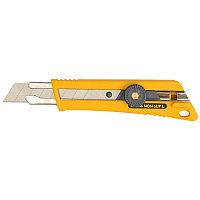 Нож с выдвижным лезвием, со специльным покрытием, фиксатор,  18 мм, OLFA