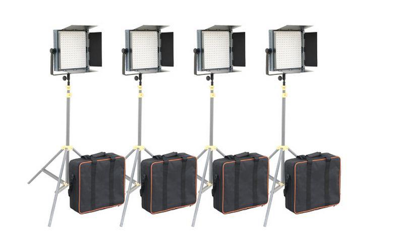 Светодиодная (LED) панель для фото / видео Camtree 1000 Bi-Color (4 осветителя)