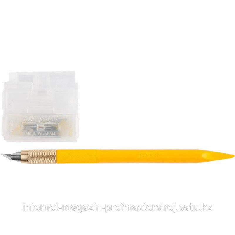 Нож перовой дизайнерский, для точных работ, рукоятка с мини шпателем, 5 лезвий, 4мм,OL-AK-5 Utility Model OLFA