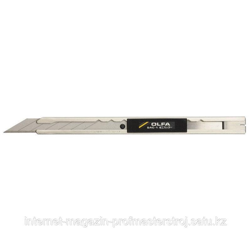 Нож для графических работ, корпус из нержавеющей стали, 9мм, OLFA
