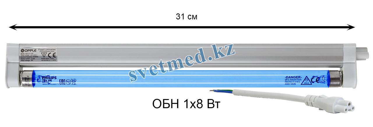 Облучатель бактерицидный настенный ОБН 1х8 Вт