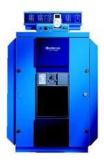 Напольные чугунные котлы , работающие на газе или дизтопливе. Мощностью от  570 до 1200 кВт