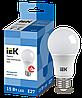 Лампа светодиодная ECO A60 шар 15Вт 230В 6500К E27 IEK