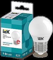 Лампа светодиодная ECO G45 шар 9Вт 230В 4000К E27 IEK