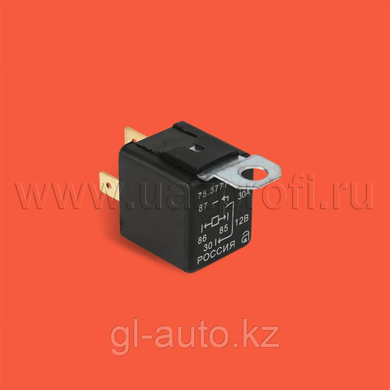 Реле 4-х контактное 90.3747-10 12В с кронштейномВЗ