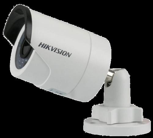 DS-2CD2022WD-I - 2MP Уличная цилиндрическая IP-камера с ИК-подсветкой на кронштейне.