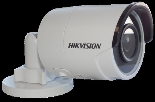 DS-2CD2023G0-I - 2MP Уличная цилиндрическая IP-камера с ИК-подсветкой на кронштейне.