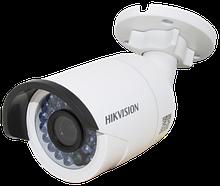 DS-2CD2042WD-I - 4MP Уличная цилиндрическая IP-камера с ИК-подсветкой на кронштейне.