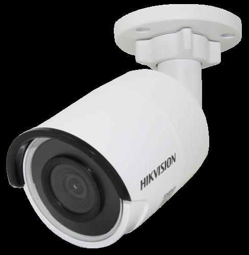 DS-2CD2043G0-I - 4MP Уличная цилиндрическая IP-камера с ИК-подсветкой на кронштейне.